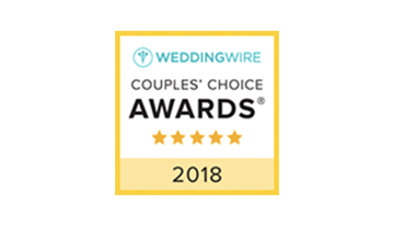 WeddingWire Couples' Choice Awards 2015 Winner - Top 5% Of Wedding Professionals Nationwide Based On Client Reviews
